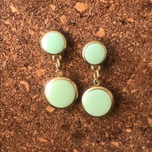 Light green vintage earrings